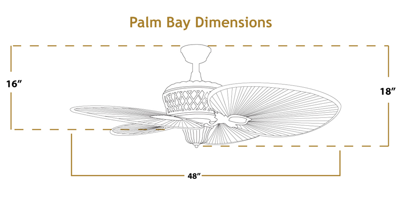 Palm Bay Ceiling Fan Dimensions